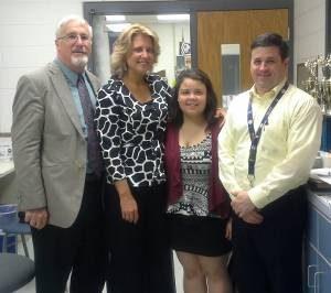 Working with Sherando High School and Former President of Shenandoah Valley United Way, Joe Shtluman